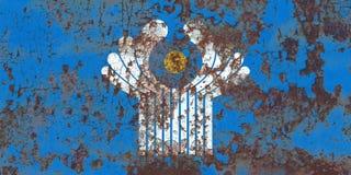 Wspólnoty Niepodległych Państw grunge flaga Obrazy Royalty Free