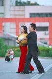 Wspólny kwadratowy taniec w Pekin, Chiny fotografia royalty free