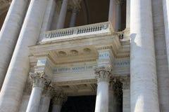 Wspaniały stary piękny rzymski balkon z corinthian kolumnami Archbasilica St John Lateran obrazy stock
