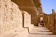 wspaniała świątynia abu simbel Obrazy Royalty Free