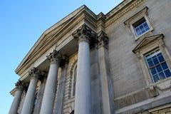 Wspaniała architektura przy Irlandia starą i sławną szkołą wyższa, Dublin, Irlandia, Październik, 2014 Zdjęcia Royalty Free