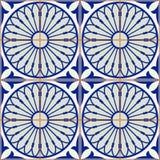 Wspaniała bezszwowa deseniowa biała turecczyzna, marokańczyk, portugalczyk płytki, Azulejo, Arabski ornament islamska sztuki ilustracji