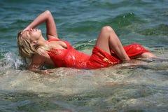 wspaniała blondynkę wody. Obraz Royalty Free
