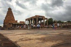 Wspaniała Brihadeeshwara świątynia budował Chola królewiątkami, Thanjavur Fotografia Royalty Free