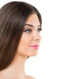 Wspaniała brunetka zdjęcie royalty free