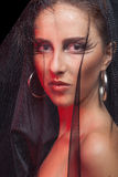 Wspaniała kobieta z goth stylem uzupełniał Fotografia Royalty Free