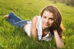 Wspaniała młoda ładna kobieta zdjęcia stock