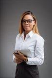 Wspaniała młoda biznesowa dama zdjęcia royalty free