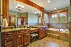 Wspaniała mistrzowska łazienka z dwoistą łazienki bezcelowością obrazy royalty free