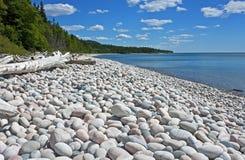 Wspaniała otoczak plaża, Ontario, Kanada Obraz Royalty Free