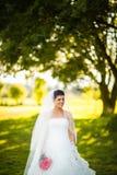 Wspaniała panna młoda na jej dniu ślubu Obraz Stock