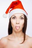 Wspaniała Santa dziewczyna Zdjęcia Royalty Free