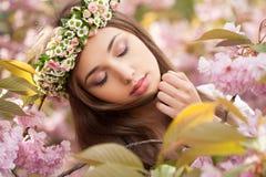 Wspaniała wiosny kobieta fotografia stock