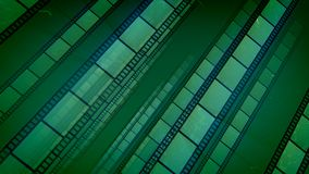 Wspaniała Zielonego filmu taśma Umieszczająca Aslant ilustracji