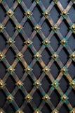 Wspaniałe żelazo bramy, ornamentacyjny skucie, forged elementu zakończenie Fotografia Royalty Free