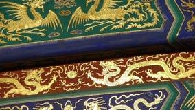 Wspaniałe Malować Rzeźbić belkowate stropnicy Porcelanowa Pekin antyczna architektura zbiory