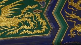 Wspaniałe Malować Rzeźbić belkowate stropnicy Porcelanowa Pekin antyczna architektura zdjęcie wideo
