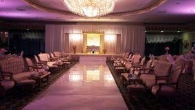 Wspaniałej bankiet sala ślubne dekoracje zdjęcia stock