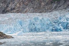 Wspaniały błękitny lodowiec w Alaska Obraz Stock