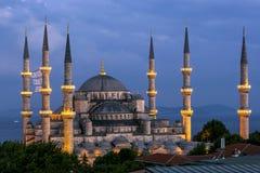 Wspaniały Błękitny meczet w Sultanahmet okręgu Istanbuł w Turcja Zdjęcia Royalty Free