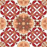 Wspaniały bezszwowy patchworku wzór od kolorowych marokańczyk płytek, ornamenty Może używać dla tapety, deseniowe pełnie ilustracja wektor