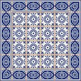 Wspaniały bezszwowy wzór od płytek i granicy Marokańczyk, portugalczyk, Azulejo ornamenty Obraz Royalty Free