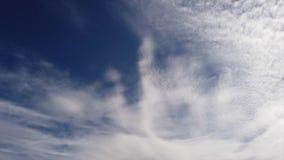 Wspaniały czasu upływ popołudniowy zmrok - błękitne lata cirrocumulus, nieba chmury nieść i scenicznym ruchem i wiatrem zdjęcie wideo
