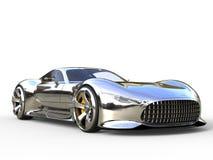 Wspaniały kruszcowy nowożytny super sporta samochód - zbliżenie strzał zdjęcia stock