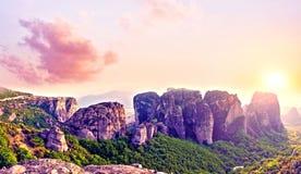 Wspaniały magiczny krajobraz w sławnej dolinie meteor Obrazy Stock