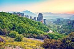 Wspaniały magiczny krajobraz w sławnej dolinie meteor Zdjęcie Royalty Free