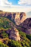Wspaniały magiczny krajobraz w sławnej dolinie meteor Fotografia Stock