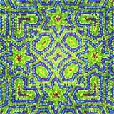 Wspaniały mozaika patchworku wzoru marokańczyk, Portugalskie kolorowe płytki Obraz Stock