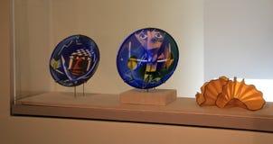 Wspaniały przykład szklani talerze i puchary, Portlandzki muzeum sztuki, Maine, 2016 Obrazy Stock