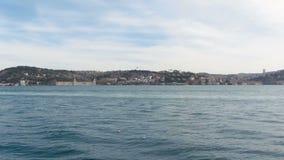 Wspaniały seascape Piękny staw Bosphorus cieśnina, Istanbuł, Turcja Tropić strzał zbiory wideo