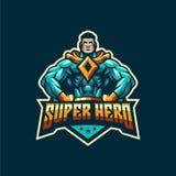 Wspaniały super bohatera logo szablon ilustracji