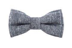 Wspaniały szary łęku krawat odizolowywający na białym tle zdjęcie royalty free