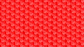 Wspaniały tło dla heksagonalny i trójgraniasty kształtny grupowy składać się z czerwony kolor, abstrakcjonistyczny geometryczny w ilustracja wektor