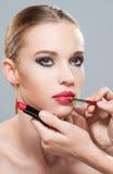 Wspaniały w makeup zdjęcia royalty free