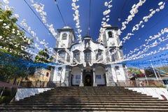 Wspaniały widok kościół nasz dama Monte zdjęcie stock