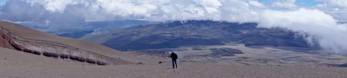 Wspaniały widok przy stopą Cotopaxi zdjęcia stock