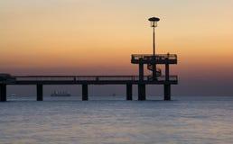 Wspaniały wschód słońca na Bourgas moscie Fotografia Stock