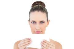 Wspaniałej kobiety podmuchowy nos Obraz Stock