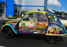 Wspaniała farby praca na Antykwarskim samochodzie zdjęcie stock