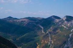 Wspaniała kolorowa góra w jesieni Obrazy Stock