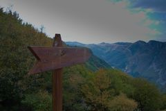 Wspaniała kolorowa góra w jesieni Zdjęcia Royalty Free