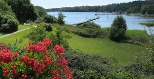 Wspaniała lato widoku morza zatoka Zdjęcia Stock