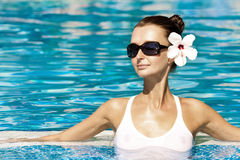 wspaniały brunetka basen Obrazy Stock