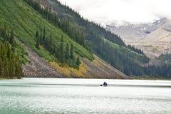 wspaniały jeziorny kajakarstwo ludwik Obraz Royalty Free