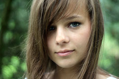 wspaniały portret dziewczyny Obraz Royalty Free