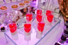 Wspaniały wesele jedzenie i napój Zdjęcie Royalty Free